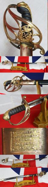 SOLD A Superb & Rare Georgian General's Combat Sabre With Combat Hand Sharpened Blade